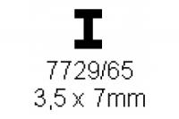 H-Profil 3.5x7.0mm Länge 1000mm