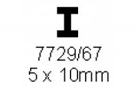 H-Profil 5.0x10.0mm Länge 1000mm