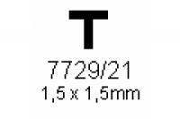 T-Profil 1.5x1.5mm Länge 1000mm