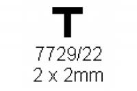 T-Profil 2.0x2.0mm Länge 1000mm
