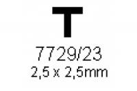 T-Profil 2.5x2.5mm Länge 1000mm