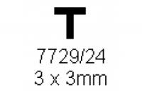 T-Profil 3.0x3.0mm Länge 1000mm
