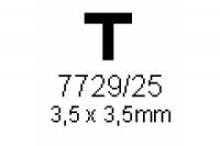 T-Profil 3.5x3.5mm Länge 1000mm