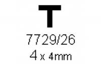 T-Profil 4.0x4.0mm Länge 1000mm