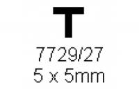 T-Profil 5.0x5.0mm Länge 1000mm