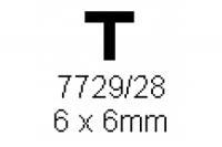 T-Profil 6.0x6.0mm Länge 1000mm