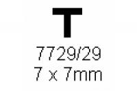 T-Profil 7.0x7.0mm Länge 1000mm