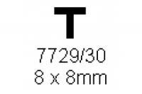 T-Profil 8.0x8.0mm Länge 1000mm