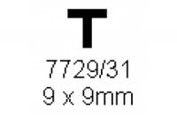 T-Profil 9.0x9.0mm Länge 1000mm