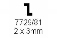Z-Profil 2.0x3.0mm Länge 1000mm