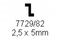 Z-Profil 2.5x5.0mm Länge 1000mm