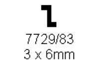 Z-Profil 3.0x6.0mm Länge 1000mm