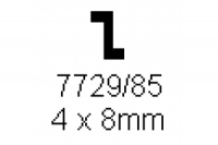 Z-Profil 4.0x8.0mm Länge 1000mm