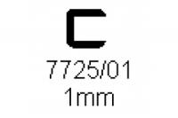 Verbinderprofil einfach 1.0mm Länge 1000mm