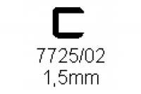 Verbinderprofil einfach 1.5mm Länge 1000mm