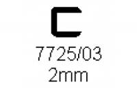 Verbinderprofil einfach 2.0mm Länge 1000mm