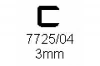 Verbinderprofil einfach 3.0mm Länge 1000mm