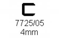 Verbinderprofil einfach 4.0mm Länge 1000mm