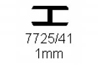Verbinderprofil doppelt 1.0mm Länge 1000mm