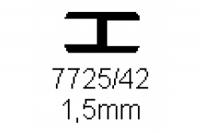 Verbinderprofil doppelt 1.5mm Länge 1000mm