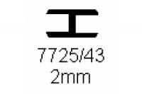 Verbinderprofil doppelt 2.0mm Länge 1000mm