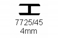 Verbinderprofil doppelt 4.0mm Länge 1000mm
