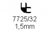 Verbinderprofil doppelt 90° 1.5mm Länge 1000mm
