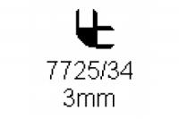 Verbinderprofil doppelt 90° 3.0mm Länge 1000mm