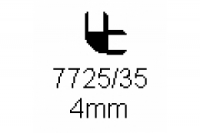 Verbinderprofil doppelt 90° 4.0mm Länge 1000mm