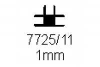Verbinderprofil dreifach 1.0mm Länge 1000mm