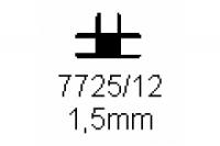 Verbinderprofil dreifach 1.5mm Länge 1000mm