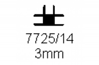 Verbinderprofil dreifach 3.0mm Länge 1000mm