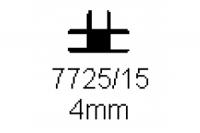 Verbinderprofil dreifach 4.0mm Länge 1000mm