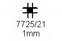 Verbinderprofil vierfach 1.0mm Länge 1000mm