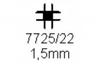 Verbinderprofil vierfach 1.5mm Länge 1000mm