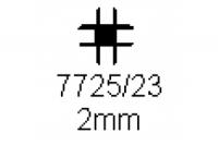 Verbinderprofil vierfach 2.0mm Länge 1000mm