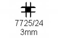 Verbinderprofil vierfach 3.0mm Länge 1000mm