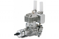 DLE-20RA 2-Takt Benzinmotor 20ccm Auspuff hinten
