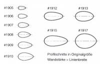 Profil Edelstahlrohr 11.9mm x 5.8mm x 1000mm