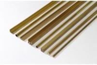 Messing Vierkantprofil 2,0 mm x 2,0 mm x 500 mm
