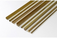 Messing H-Profil 4,0 mm x 4,0 mm x 500 mm