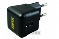 Multiplex Steckerladegerät mit USB-Ladebuchse