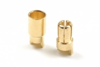 6.0mm Goldstecker, 3 Paare Buchse/Stift