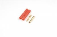 2.0mm Goldstecker, 2 Paare Buchse/Stift mit Gehäuse