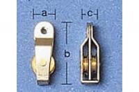 Aeronaut Block mit 2 Rollen 6mm