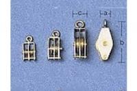 Aeronaut Block mit 2 Rollen 3mm