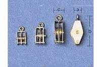 Aeronaut Block mit 2 Rollen 5mm