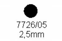 Rundstab 2.5mm Länge 1000mm