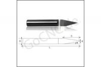 GoCNC Gravurstichel 60° mit Schaft 3.175mm