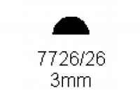 Halbrundprofil 3.0mm Länge 1000mm